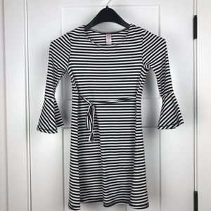 Justice girl's 8 striped bell sleeve dress